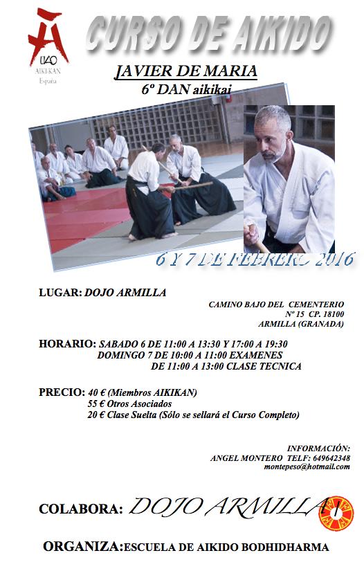 Aikido en Granada con Javier de María 6 Dan Aikikai